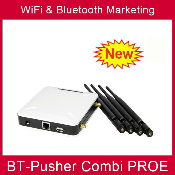 BT-Pusher COMBI PROE wifi&bluetooth mobiles proximity marketing device (Free WiFi HOTSPOT) with car charger(China (Mainland))