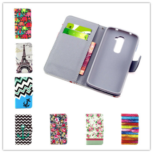 Fashion Retro Effier Tower Totem PU Leather Flip Wallet Cover Stand Case LG G2 D802 Wit Credit Stock - Apbest Trading Ltd. store