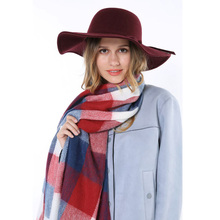 6 Color 2015 New Arrival Fall Fashion Green Pink Red Thick Tassels Tartan Warm Pashmina Winter Plaid Women Shawl Brands Logo