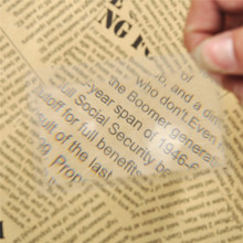 Buy 10 PCS Transparent Credit Card 3 X Magnifier Magnification Magnifying Fresnel LENS Hot Sales High Free for $1.02 in AliExpress store