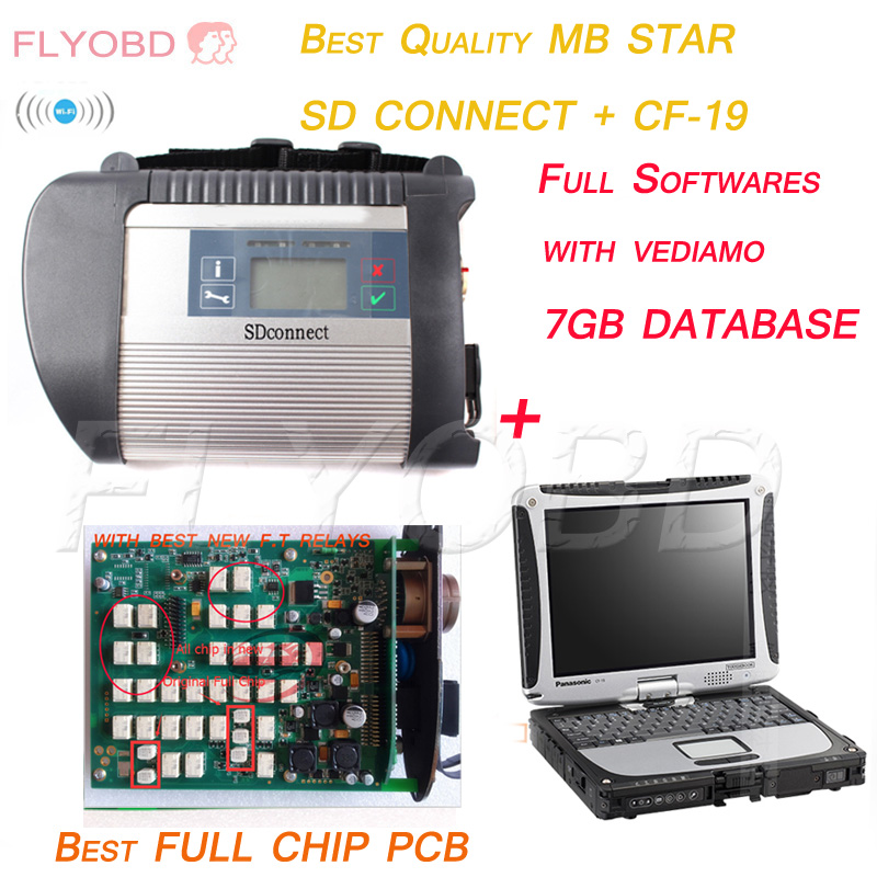 Super CF19 Laptop + MB STAR C4 SD CONNECT WiFi Diagnosis Tool + V2016.09 Newest Software Das Star C4 Ready To Use DHL Free(China (Mainland))