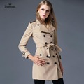 Trench Coat For Clothing Womens British Style Leisure Duster Coat Windbreaker Double Breasted Plus Size Waterproof