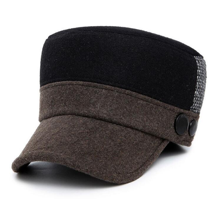 # 1212 Winter flat cap for men Fashion Warm Fashion Middle-aged cotton military cap for men Gorras planas Touca Chapeau homme(China (Mainland))