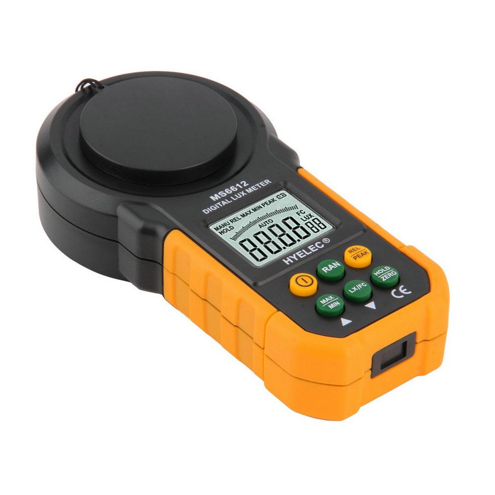 1pc Professional MS6612 Digital Luxmeter 200,000 Lux Light Meter Test Spectra Auto Range Stock Offer
