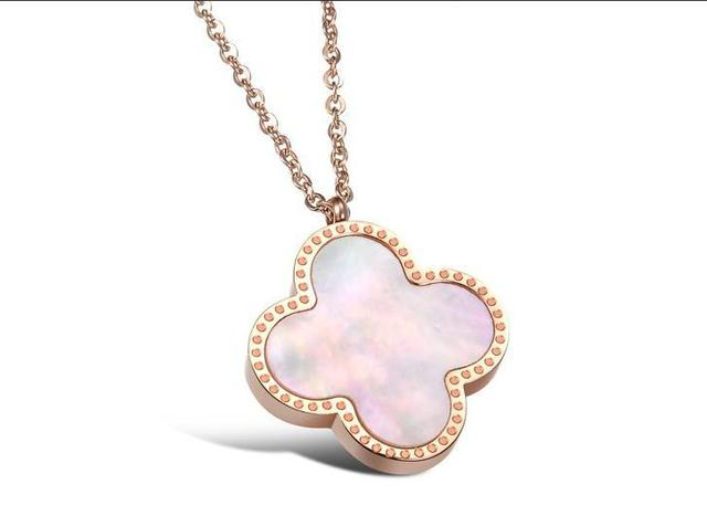 New arrival rose gold nature shell necklace short female titanium steel 14 k  jewelry