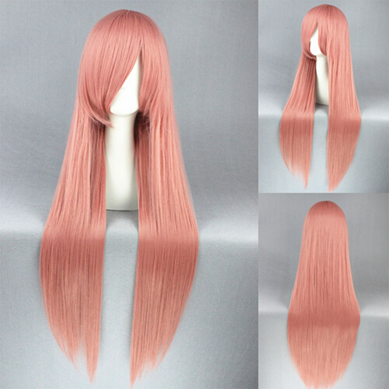 Pandora Hearts Lottie Cosplay Wig 80CM Long Straight Mixed Pink Anime Hair Wigs Hot