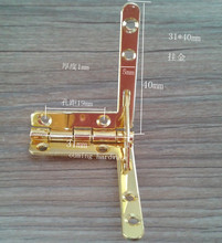 Golden color special shaped steel hinge for wine box 31*40 mm(China (Mainland))