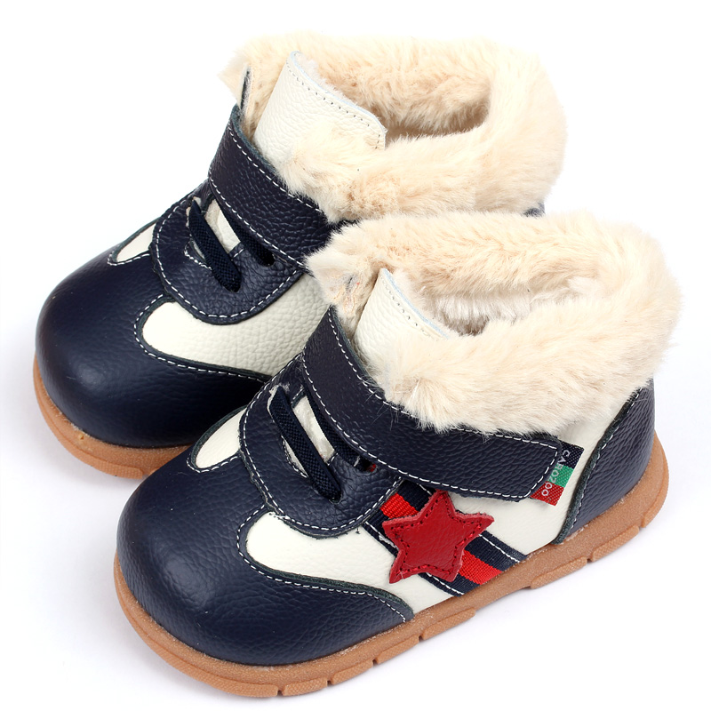 2015 Keep Warm Baby Girl Boy Snow Boots Soft Leather Baby Shoes Winter Baby Boots For Girl Infant Kids Baby First Walkers Shoes(China (Mainland))