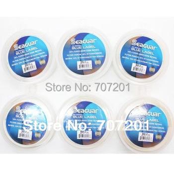 8pcs Seaguar Blue Label Fluorocarbon Leader Material Fishing Line 50YD 15LB 20LB 25LB 30LB  40LB 50LB 60LB 80LB
