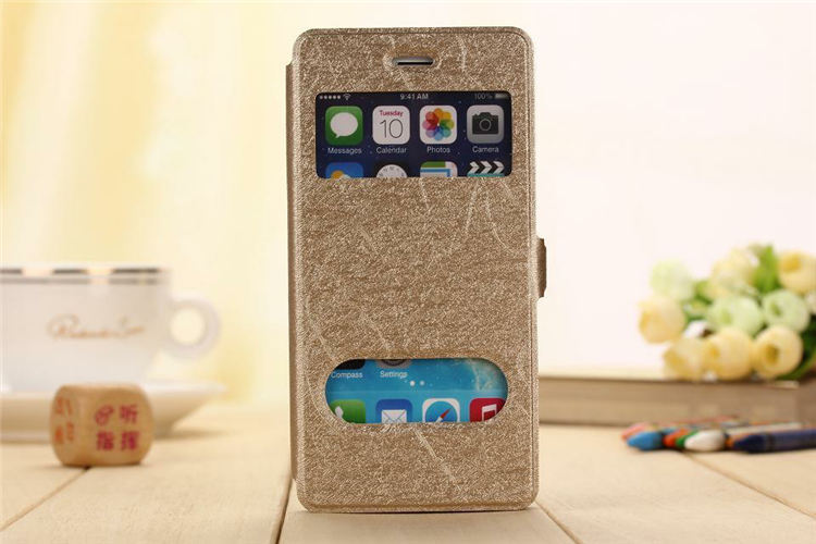 For iphone 6 Two Small Windows Design phone case For Apple IPhone 6 4.7 inch High Quality PU Scrub Leather case cover(China (Mainland))