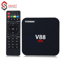 Quad SCISHION V88 4K Android 5.1 Smart TV Box Rockchip 3229 1G/8G 4 USB 2K WiFi Full Loaded Core 1.5GHZ Media Player - Dream high Store store