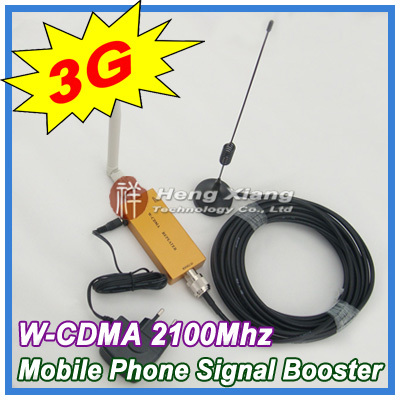 Best Price !! Mini W-CDMA 2100Mhz 3G Repeater Mobile Phone Signal Booster WCDMA Amplifier + Cable Antenna - Shenzhen Hengxiang Technology Co., Ltd store