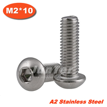 Buy 100pcs/lot ISO7380 M2*10 Stainless Steel A2 Hexagon Socket Button Head Screws for $7.26 in AliExpress store