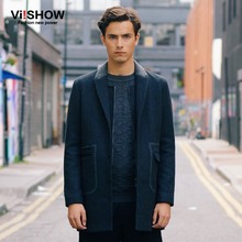 VIISHOW 2016 Winter Wool Coat Slim Fit Single-Breasted Long Trench Coat Outdoor Windbreaker Warm Fashion Mens Overcoat for Men(China (Mainland))