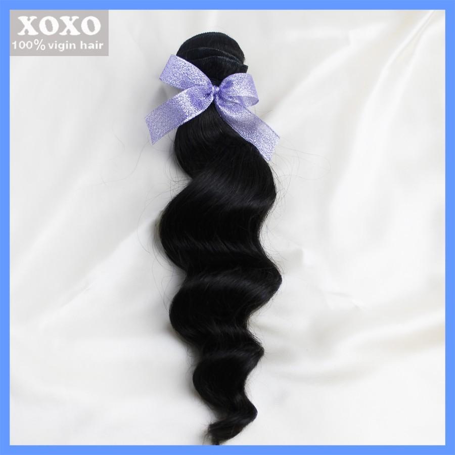 Peruvian Wavy Virgin hair, xoxo hair products, 1pcs/a lot ,grade 5A,100% human hair Weaves freeshipping<br><br>Aliexpress
