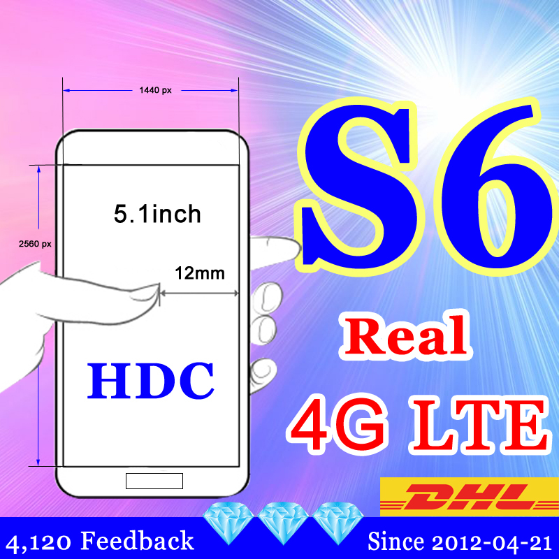 Real 4G LTE HDC S6 phone Freeship MTK6592 Octa core s6 mobile phone Lollipop 3G Ram 32G Rom G920F g9200 MTK6735 4g cell phone(China (Mainland))