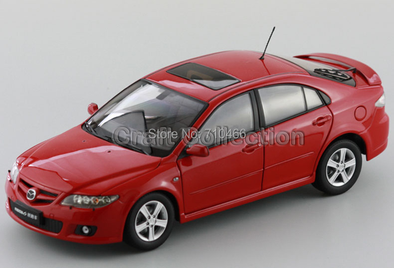 Red 1/18 Mazda 6 Car Ran Coupe Hatchback Diecast Model Car Rare Collection Classic Toys Limited Edition(China (Mainland))