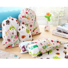 Cotton and Linen Drawstring Special Purpose Gift Bags For Cosmetic bags Underwear Organizer Travel Shoe(China (Mainland))