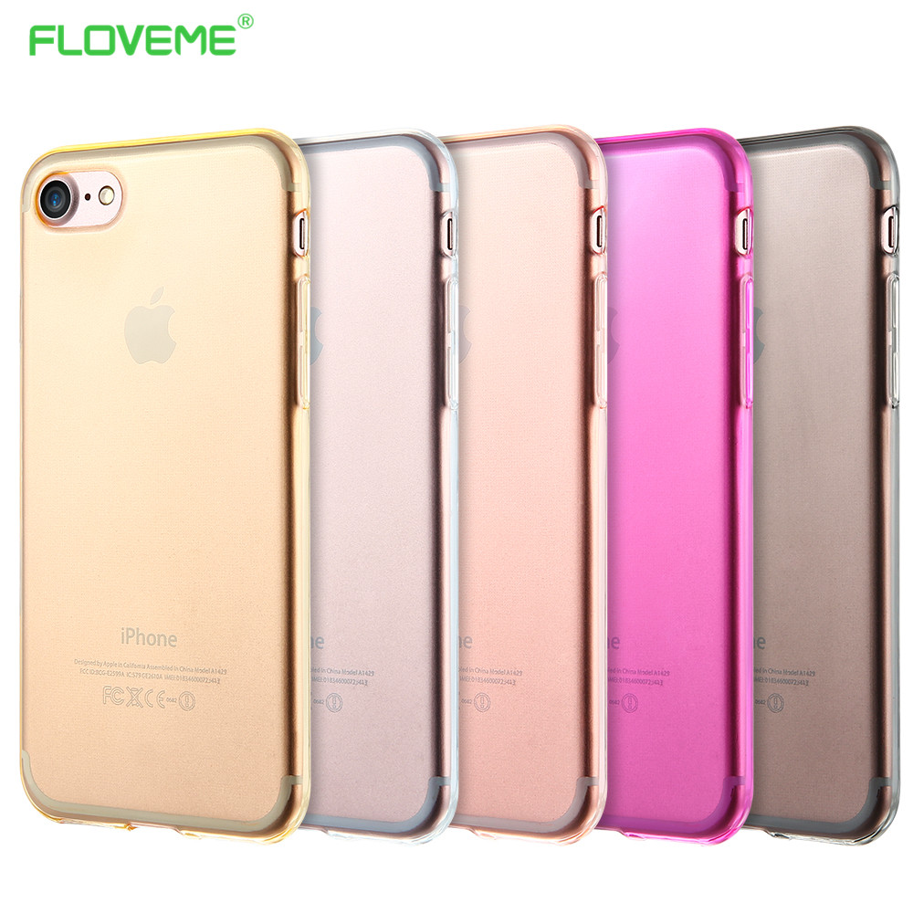 0.3MM Soft TPU Gel Original Transparent Case iPhone 7 7Plus 6S 6Plus 5S Crystal Silicon Cases Back Cover IPhone - Floveme Offical Outlet Store store