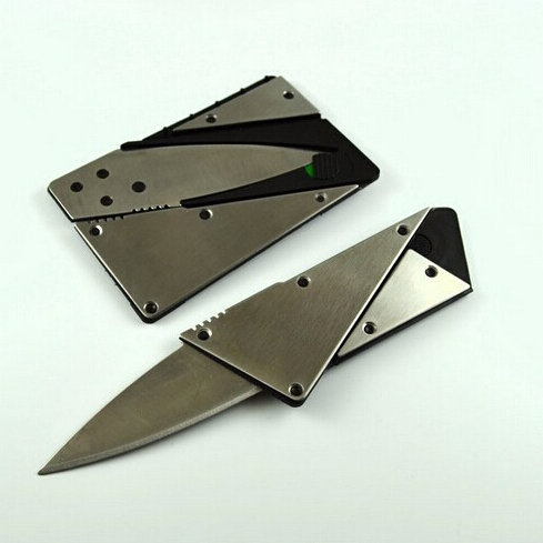 New high quality credit card knife ,steel metal handle folding safety knife, outdoor pocket wallet tool free shipping(China (Mainland))