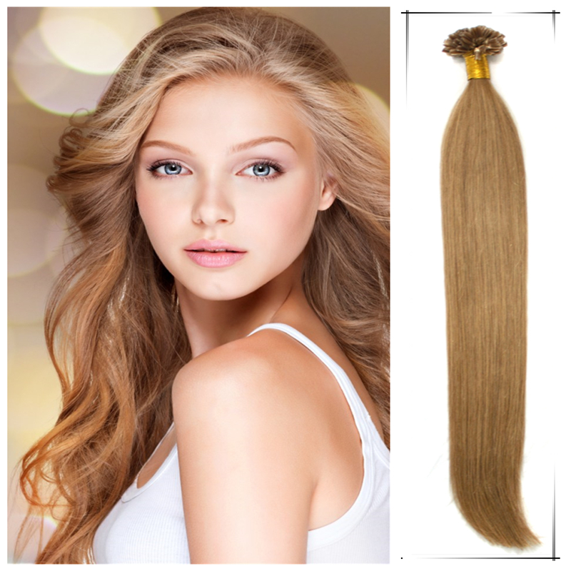 Wholesale 22inch/55cm Brazilian Remy Human Straight Keratin U Tip Hair Weaves 50g/pc Shedding And Tangle Free True Glory Hair(China (Mainland))