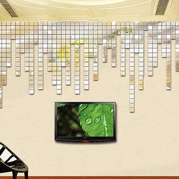 Hot Sale 100Pcs 2x2cm Acrylic 3D Mural Wall Stickers Mosaic Mirror Effect Room DIY Square Decors 7JXD