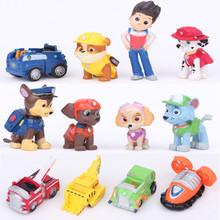 Patrol Dog 12pcs/lot Figurine Cars Plastic Toys ,Action Figure Children Gifts Dog puppies brinquedos patrulla canina toys(China (Mainland))