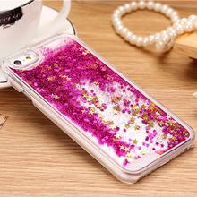 Hot Transparent Fashion Dynamic Liquid Glitter Colorful Paillette Sand Quicksand Case Cover For iPhone 6 Plus Mobile Phone sets