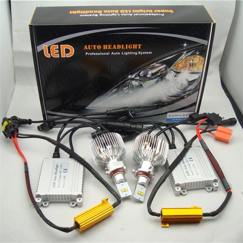 Runstreet(TM) H8 5000K White Canbus No Error LED Headlight Kit Lumileds LMZ 45W 4500lm 9000lm Car Headlight Kit KO Xenon HID Kit