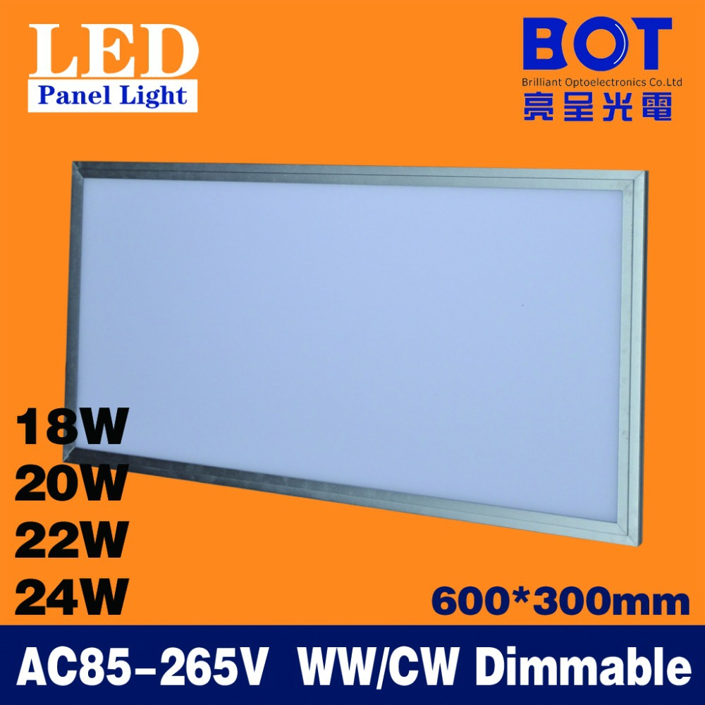 600*300mm 18W/20W/22W/24W LED flat panel lamp KTV/Hospital/Super market/Workshop/Office/Hotel dimmable ceiling light SMD2835(China (Mainland))