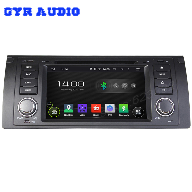 Pure Android 4.4 hd Capacitive screen 1 din Car DVD radio For BMW E39 X5 E53 M5 7 series E38 With gps 3G wifi ipod 1.6G cpu(China (Mainland))