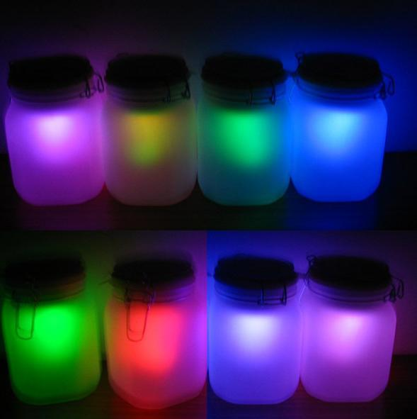 2015 Gadget Dreamcatcher Fountain Newest Colorful Solar Night Light Christmas Gift Storage Sun Jar One Bottle 7 Colors Transform(China (Mainland))