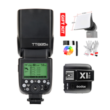 Godox TT685S GN60 1/8000s HSS TTL Speedlite Flash Light + Godox X1T-S Wirless Flash Trigger (MI Shoe) for Sony DSLR + Gift Kit(China (Mainland))