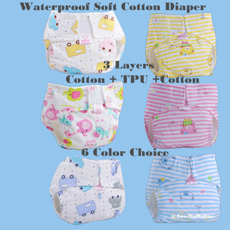 Baby Nappy changing Newborn baby waterproof breathable Ultra thin Nappie Baby No Side Leakage Adjustable Soft