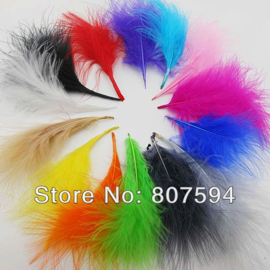 retail- 100pc/Lot soft Turkey Marabou Feathers washed goose down 8-16cm Fluffy Dress/jewelry/Christmas/hat wedding decoration(China (Mainland))