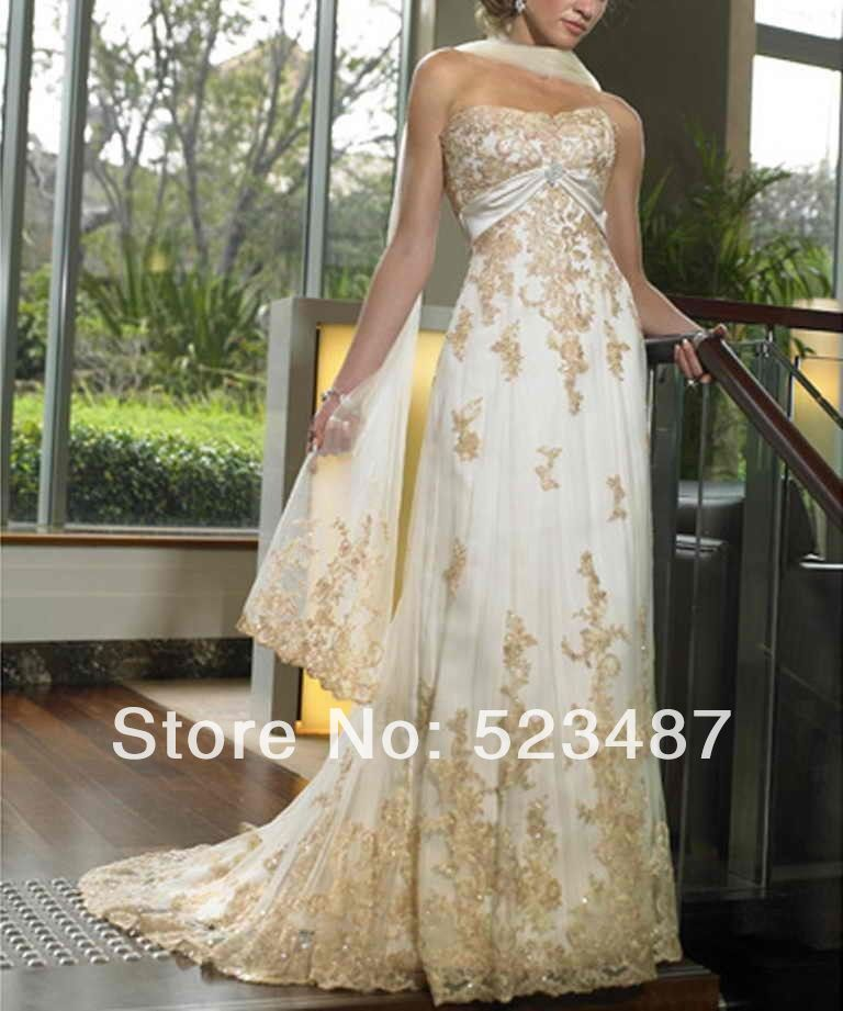 custom golden wedding anniversary dress gown size 4 6 8 10 With golden wedding anniversary dresses