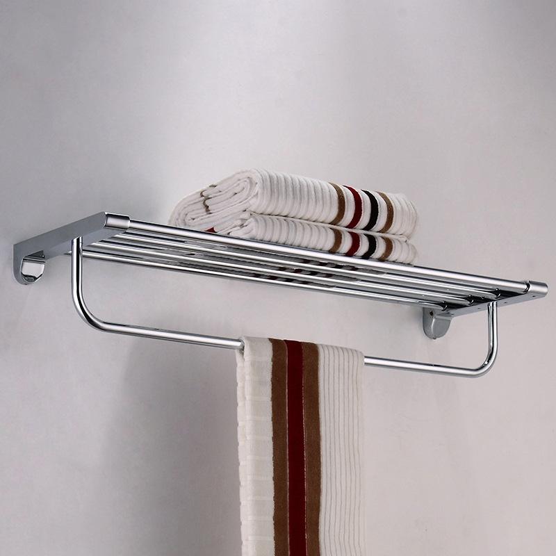 High quality   304 stainless steel bath towel holder Bathroom shelf Bathroom towel rack chrome plating Bathroom accessories [zob] 100% new original omron omron photoelectric switch e3s r1e4 2m