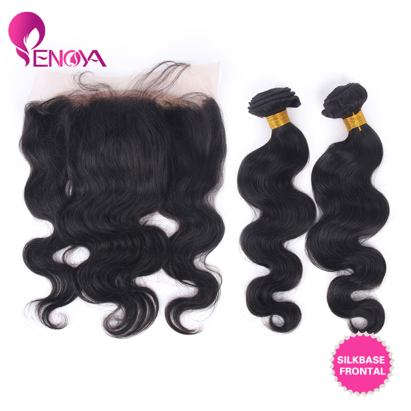 Free Shipping Body Wave 2 Bundles Malaysian Virgin Hair With Silk Lace Frontal Piece(China (Mainland))