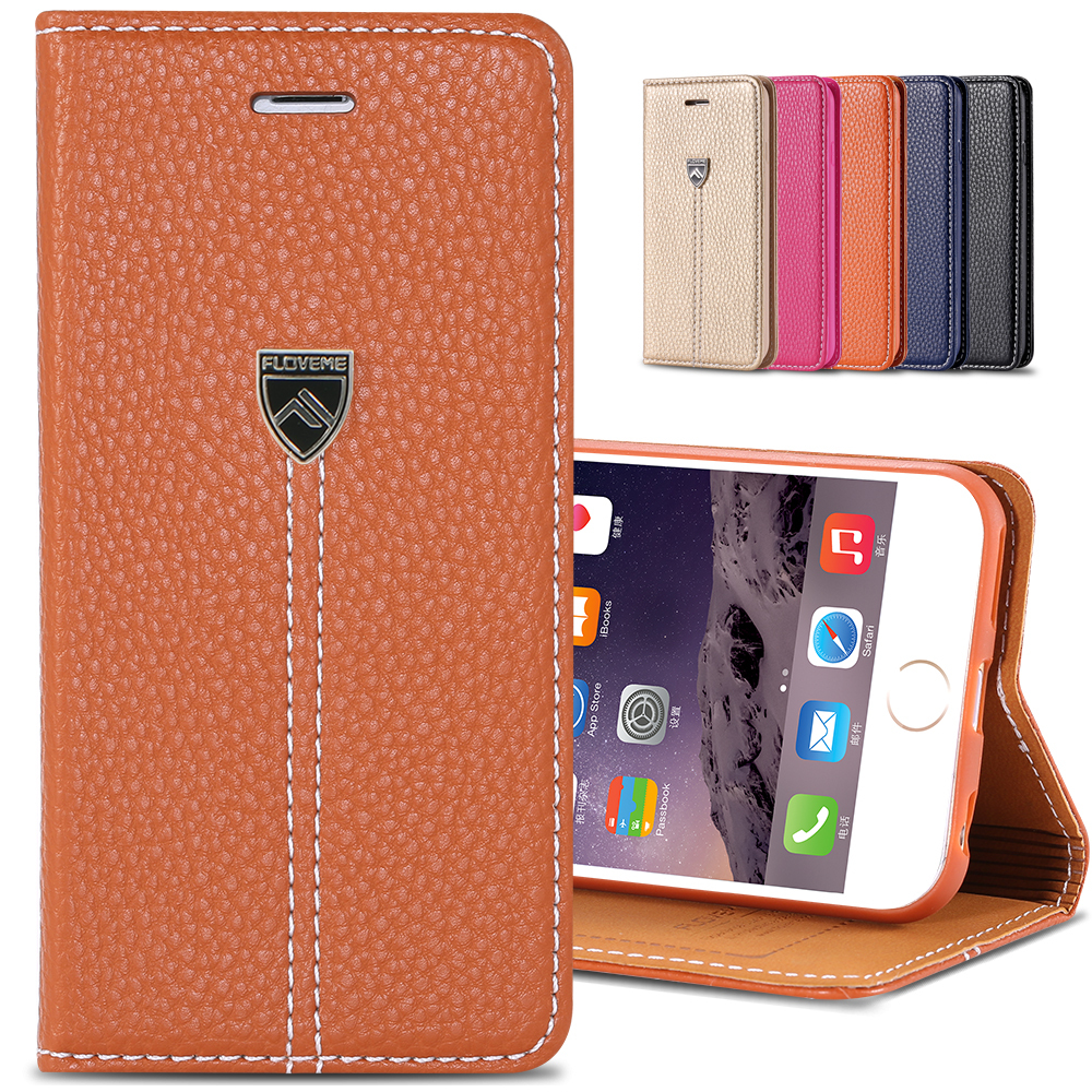 Original Brand Retro Flip Case for iPhone6 4.7/ plus 5.5 Luxury Phone Accessories Wallet Stand Card Leather Cover for iPhone6(China (Mainland))