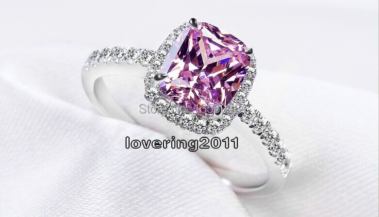 Victoria Wieck Classic jewelry Pink sapphire simulated diamond 925 Sterling silver Wedding Ring Sz 5-10 Free shipping Gift R106<br><br>Aliexpress