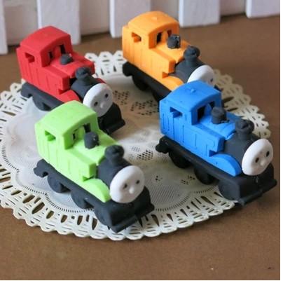 Thomas Locomotive Rubber Eraser Toys Stationery Korea Creative Prize Pupils 4.6*3cm(China (Mainland))