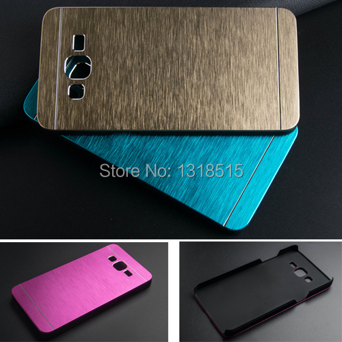 Luxury Brushed Metal Aluminium + PC material phone case Samsung Galaxy Grand Prime G530 G530h G531 G531H back cover - My Miss L Trading Co.,Ltd store