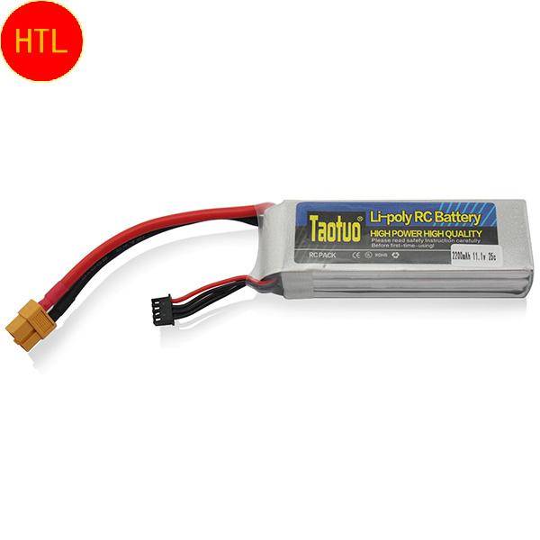 Запчасти и Аксессуары для радиоуправляемых игрушек TAOTUO /Lipo 11.1V 2200Mah 3S 25 C T rC Lipo 11.1V 2200Mah