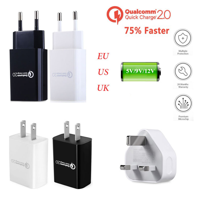 For Huawei P9/Plus Mate 8/7 Lenovo Vibe P1/Zuk Z1/Z2/Pro Quick Fast Charger Charge QC 2.0 EU/US/UK Charger Phone Wall Adapter(China (Mainland))