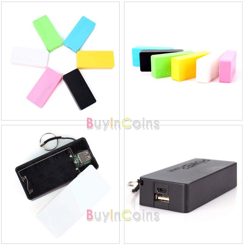 USB 5v питанием банка зарядное устройство пакет коробки дело для 2 x 18650 аккумуляторная батарея #66118