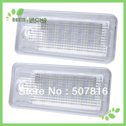 EMS/DHL free shipping wholesale 15pair White 18 SMD LED License Plate Lights Lamps for A3 A4 8E RS4 A6 RS6 A8 Q7(China (Mainland))