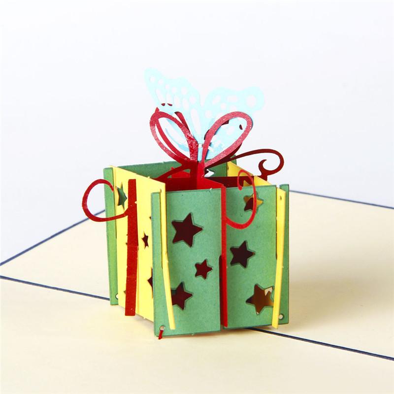 5pcs/lot Romantic 3D Birthday Gift Greeting Card Beautiful Message Card HandiCrafts Invitation Card(China (Mainland))