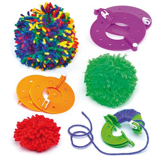 8PC 4 Sizes Knitting Crafts Pompom Maker Fluff Ball Weaver Needle Tool craft DIY tool(China (Mainland))