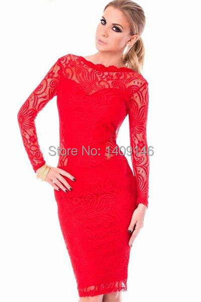 Red Open Back Bodycon Dress Bodycon Open Back Dress