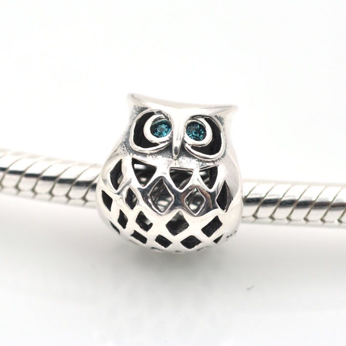 hot sale 925 sterling silver doctor owl floating charm